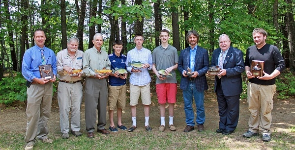 Seven honored with nh fish and game commission awards of for Nh fish and game license