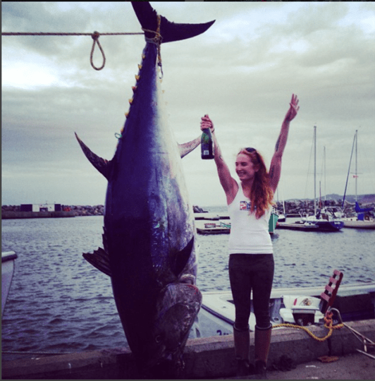 """Photo posted to Instagram/Stephanie Osgood Choate, with a caption that reads """"10 days of fishing and caught over 10 bluefin tuna."""" (Instagram)"""