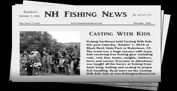 New hampshire fishing news fishing northeast for New york out of state fishing license